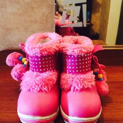 Winter boots for a girl