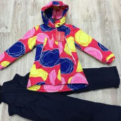 New demi-season suit for a girl 128cm