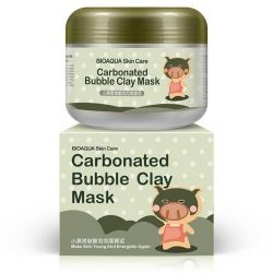 Foaming, mud, collagen mask for the face.