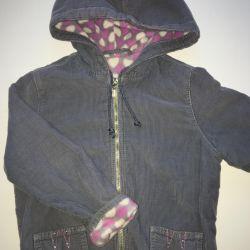 Куртка ветровка утеплeнная