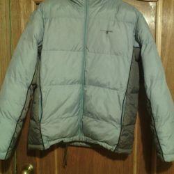 Unisex jacket, blue gray down jacket, on padding polyester