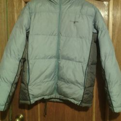Куртка унисекс,голубойс серым пуховик,на синтепоне