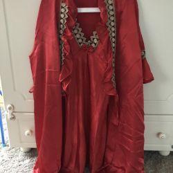 Silk Set nightie + bathrobe new