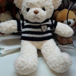 Soft toy Bear with a sweater 30 cm new