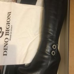 Leather boots on the platform of Dino Biglioni 36p winter
