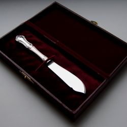 Silver butter knife in a case Sweden 1964