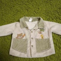 bebek için kadife ceket