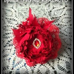 LARGE brooch of FAMIRAN TRIUMPH RED