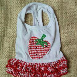 Φόρεμα Φράουλα (ρούχα για σκύλους)
