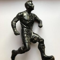 Figurine football player of the USSR cast iron cast 50 years Casley