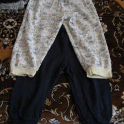 Pantaloni sport pentru 1-2 ani