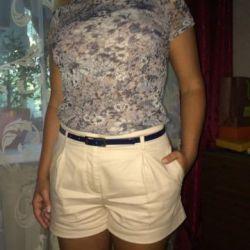 Shorts + blouse