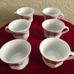 Beautiful set of cups, 6 pieces