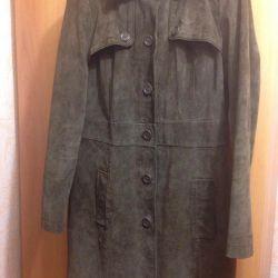 Suede Trench Coat.