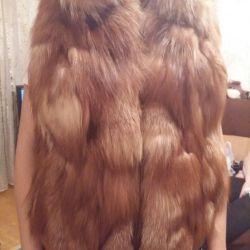 Natural fox fur vest