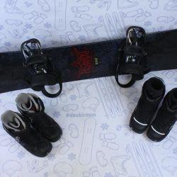 Snowboard 162cm Burton Deuce + boots + bindings