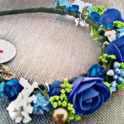 Çiçekler ile el yapımı çerçeve