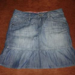 I will sell a new jeans skirt of river 44