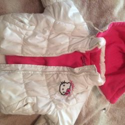 white kitty jacket from 2 to 4 years