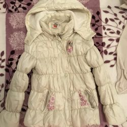Sintepon jacket for a girl of 6-7 years old