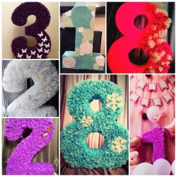 3D numbers and letters