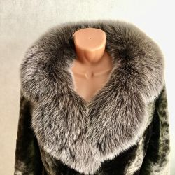 Chic Mouton Fur Coat and Arctic Fox
