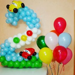 Balloon number, helium balloons