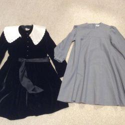 Бархатное платье и шерстяное Roberta di Camerino