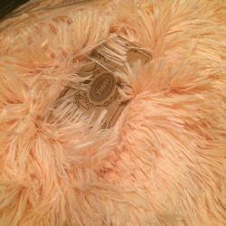 Βελούδινη κουβέρτα Ροδάκινο χρώμα