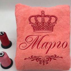 Bathrobe with embroidery waffle