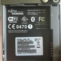 PDA Fujitsu siemens pocket loox 720