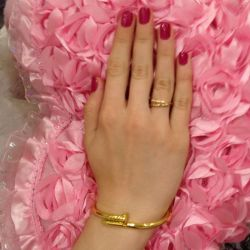 Ring in the form of a nail, jewelry.
