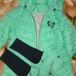 Куртка деми на девочку 7,8 лет
