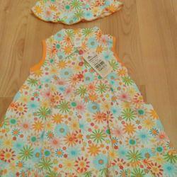 New children's kit. Dress and panama.