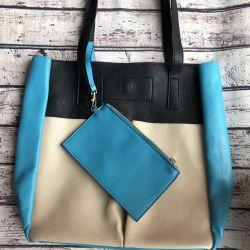 Mcüzdan Mario Ponti ile alışveriş çantası (yeni)