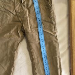 Pants for a boy on a cotton lining