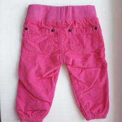Нові вельветові штани, розмір 80