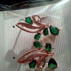 Σκουλαρίκια με πολύπλευρες πέτρες