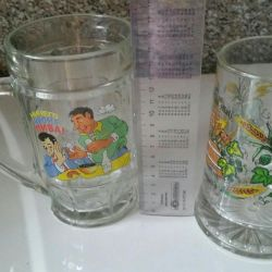 Mugs beer from the 90's, 200r for a couple