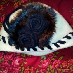 Noble, white hat with mink
