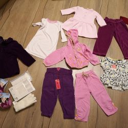 New clothes for a girl 1-2 years