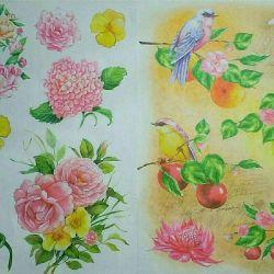 Decoupage cards hobby needlework handmade