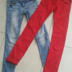 Jeans red size 25
