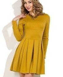 dress color mustard jersey