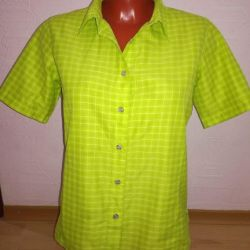 Хлопковая фирменная рубашка 44 размера