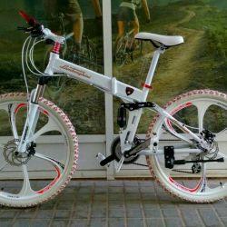 Beyaz döküm tekerlekli Moda Lamborghini bisiklet
