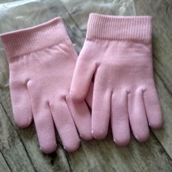 Gel spa gloves with impregnation.
