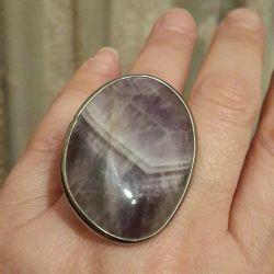 Δαχτυλίδια 2πλ. Φυσική πέτρα