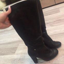 Sale leather demi-season boots