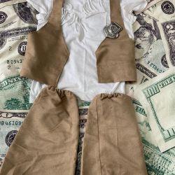 Bir kız için temalı kostüm.